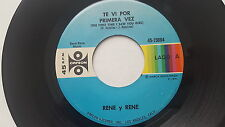 RENE y RENE - Te Vi Por Primera Vez / The First Time I Saw You Girl 1971 TEJANO