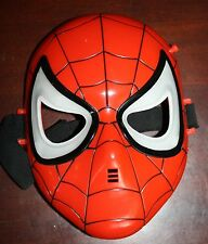 Spiderman Hero LED Light Up Mask Red Youth - 2004 Toy Biz - Green eyes Works