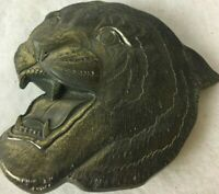 Chicago The Great American Buckle Company Tiger Cougar Brass Vintage Belt Buckle