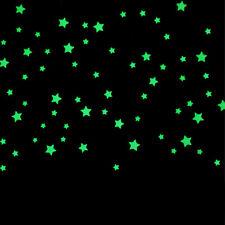 100pc bambini camera da letto bella fluorescente Glow Stars adesivi murali