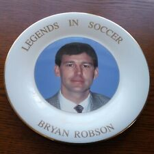 Royal Doulton Collectors Plate - Legends In Soccer - Bryan Robson