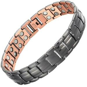 Black Pure Copper Fully Magnetic Bracelet For Arthritis Relief + Free Gift Box