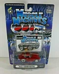 Muscle Machines  Red Maroon  ' 62 Chevy  Corvette   2002