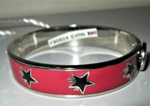 COACH F90824 Stars in Motion SV/RN Rose Bangle Bracelet New NWT + Coach Pouch!