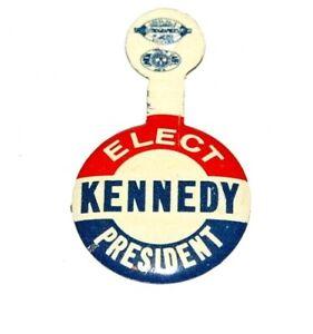 1960 JOHN F. KENNEDY JFK TAB campaign pin pinback button political presidential