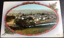 Vintage Falkirk Postcard Looking North Across Town Tartan Border Heather Col P/U