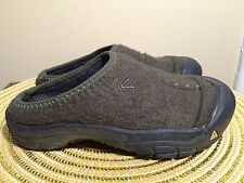 KEEN Felted Wool MULE Shoes Green Gray  Rubber Sole  SLIP ON Clogs Size 3