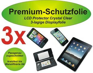 3x Premium-Schutzfolie 3-lagig klar Samsung Galaxy Tab 4 7.0 SM-T230 T231 T235