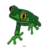 Frog Green Leg Patch Embroidered Patch Iron on Sew On Badge For Clothes