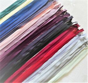 BUY 2 GET 2 FAST DELIVERY Invisible Zips 15,20,25, 30,35, 40, 50, 55cm Concealed