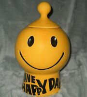 McCoy Pottery #235 Have A Happy Day Smiley Face Cookie Jar 1970's