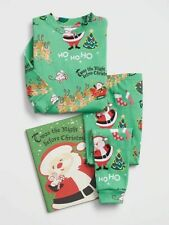 New 2T Baby Gap Books To Bed Night Before Christmas Pj Set