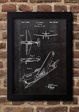 Airplane 1942 Patent Fine Art-Print Galeriequalität A4. Kunstdruck Poster 01