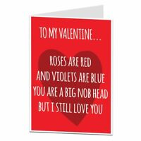 Alternative Roses Are Red I Love You Valentine's Day Card