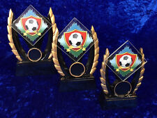 Set of 3 Football Resin Awards Trophies Tournament Competition FREE engraving