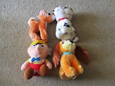 Lot of 4 Walt Disney's Animated Film Classic Stuffed Animals Pinocchio Bambi