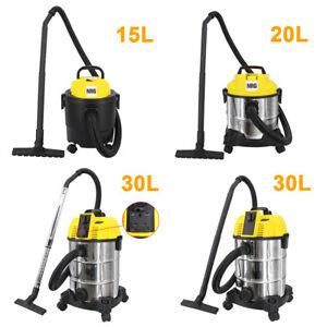 Wet and Dry Vacuum Cleaner Water Dirt Blower Vac HEPA 15/20/30L 1.2/1.25/1.6KW