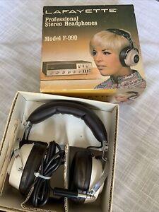 Vintage Headphones Lafayette Pro F-990 with box