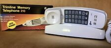 Vintage AT&T TRIMLINE 210 WHITE Push Button Touch Tone Wall/Desk/Landline Phone