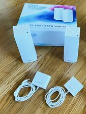 Linksys Velop Mesh Router WHW0302, Tri-Band WiFi System, 2-Pack, White, MINT!