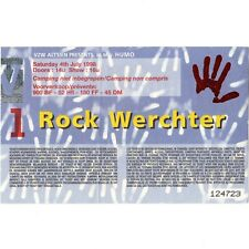 SONIC YOUTH & MOBY & PULP & DMB Concert Ticket Stub 7/4/98 ROCK WERCHTER BELGIUM