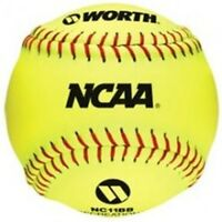 "Worth NCAA 11"" Practice Softball - 1 Dozen"