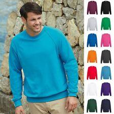 1a Fruit of the loom Sweatshirt Sweat Pulli Raglan Herren Pullover Lightweight