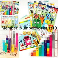3 Numberblocks Cbeebies magazine 1-10 toy Number Blocks, With Stickers 🤩🤗🤩