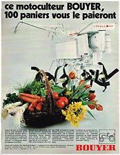 PUBLICITE ADVERTISING 105  1970  BOUYER  le motoculteur
