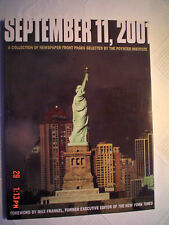 September 11, 2001 Newspaper Front Pages Andrew McMeel Publishing Paperback Book