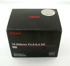 SIGMA Pentax 18-200 18-200mm SLD DC F3,5-6,3 AF ist like new box wie neu OVP /19