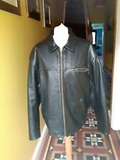 OAKLAND Vintage Men's Heavy Black Leather Jacket (suit Harley Rider) Size  Lge