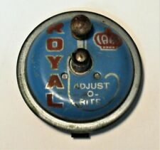 VINTAGE ROYAL VACUUM METAL PUSH BUTTON ADJUST O RITE PART GOOD CONDITION SEE PIC