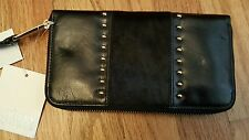 Badgley Mischka wallet Black Leather NWT