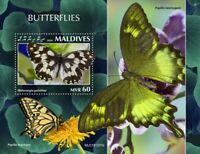 Maldives Butterflies Stamps 2020 MNH Marbled White Butterfly Papilio 1v S/S