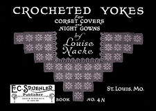 Louise Knacke #4N c.1915 - Vintage Crochet Picture Patterns for Dress Yokes