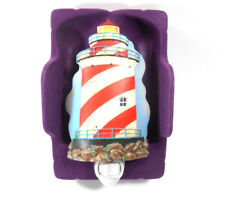 Ibis & Orchid Red and White Lighthouse Night Light