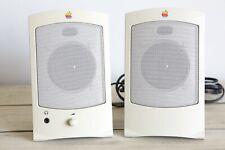 Vintage Apple Computer Design Powered Speakers II M2497 1993 desktop speakers
