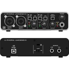 BEHRINGER U-PHORIA UMC202HD interfaccia audio usb 24 bit/192 khz midas e phantom