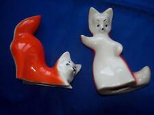 Antique USSR soviet russian porcelain figurine. Red Fox foxes 2 pcs  i