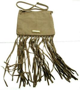 Steve Madden Womens Medium Shoulder Bag Handbag Tan Leather Bottom Flare