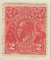 2d Golden Scarlet KGV. CofA Wmk. Postal Forgery. MH. BW. 103(A)cc. Rare.