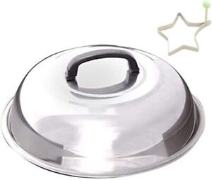 Blackstone Signature Griddle Accessories - 12 Inch Round Basting Cover Stainless