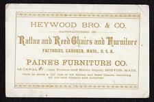 HEYWOOD BRO & CO*RATTAN & REED CHAIRS*GARDNER MASS*PAINE'S FURNITURE CO*BOSTON