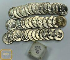 Original BU Roll of 40 1954-S Washington Quarters Uncirculated GEM Coins Silver