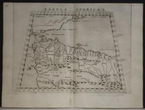 MOROCCO TUNISIA BALEARIC ISLANDS 1564 PTOLEMY & RUSCELLI UNUSUAL ANTIQUE MAP