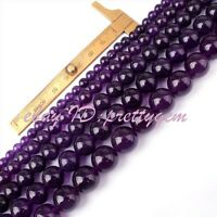 """6,8,10,12mm Round Candy Jade Gemstone Beads For Jewelry Making Spacer Strand 15"""""""