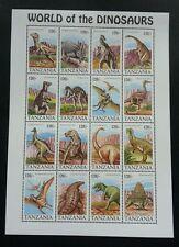 Tanzania World Of The Dinosaurs 1994 (sheetlet) MNH