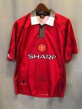 Manchester United Theatre of Dreams Sharp Futbol Soccer Jersey 1996-97 Adult L