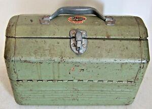 Vintage Fisherman's Fishing Simonsen Metal Tackle Box